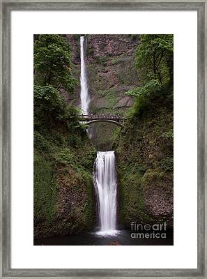Framed Print featuring the photograph Multnomah Falls by Suzanne Luft