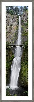 Multnomah Falls Vertical Panorama II Framed Print by Loree Johnson