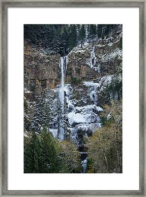 Multnomah Icicles Framed Print by Brian Bonham