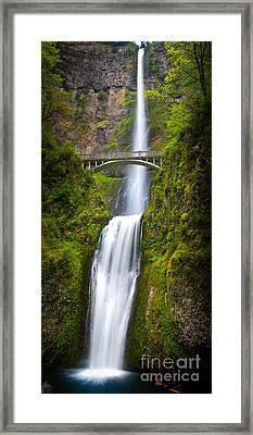 Multnomah Panorama Framed Print by Inge Johnsson