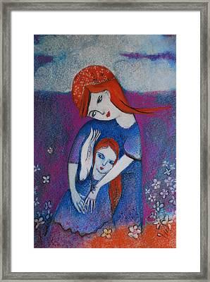 Mum Bird And Me Framed Print by Deirdre Gillespie