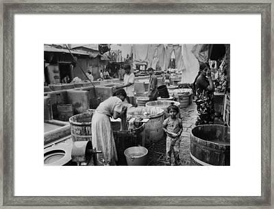 Mumbai - Dhobi Ghats 1 Framed Print by Urs Schweitzer