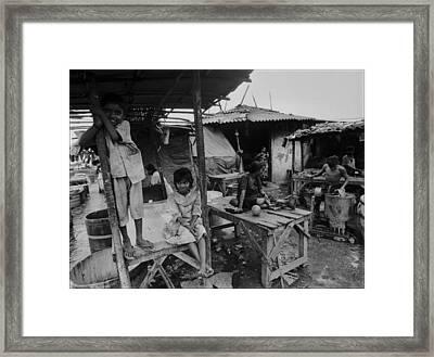Mumbai - Dhobi Ghats 2 Framed Print by Urs Schweitzer