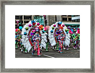 Mummer Color Framed Print by Alice Gipson