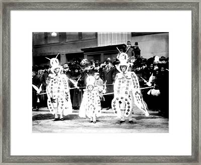 Mummers Circa 1909 Framed Print by Bill Cannon