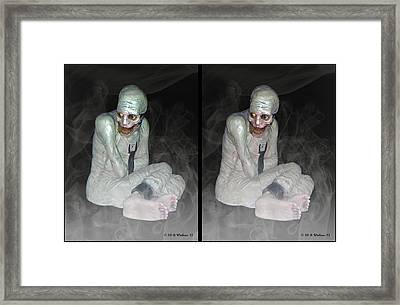 Mummy Dearest - Cross Your Eyes And Focus On The Middle Image That Appears Framed Print by Brian Wallace