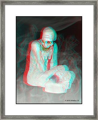 Mummy Dearest - Use Red-cyan Filtered 3d Glasses Framed Print by Brian Wallace