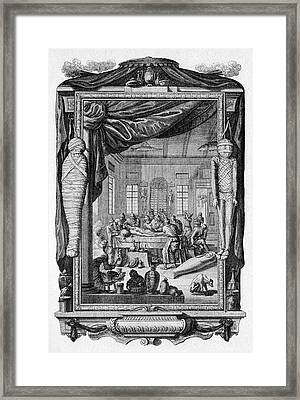 Mummy Embalming Framed Print by Cci Archives