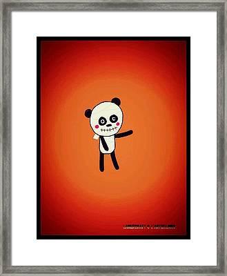 Mummy Panda Framed Print