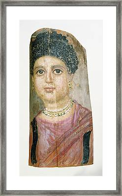 Mummy Portrait Attributed To Malibu Painter Framed Print by Litz Collection