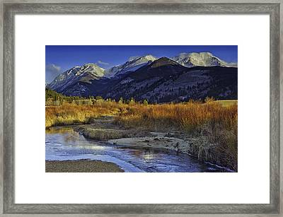 Mummy Range From Sheep Lakes Framed Print by Tom Wilbert