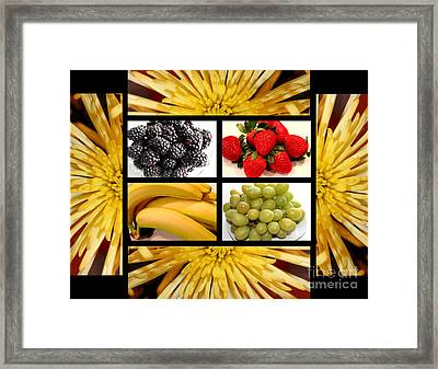 Mums Fruit Collage Framed Print by Barbara Griffin