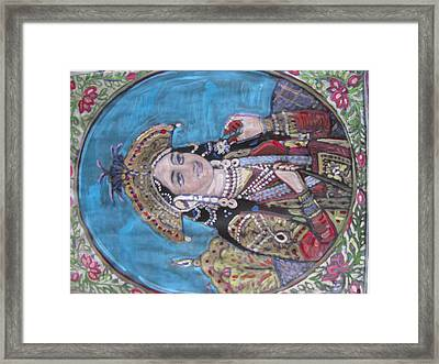 Framed Print featuring the painting Mumtaz by Vikram Singh