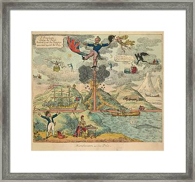 Munchausen At The Pole Framed Print