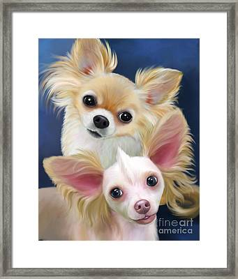 Munchie And Tuffy Framed Print by Catia Cho