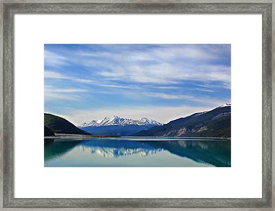 Muncho Lake Bc Canada Framed Print by Leslie Kirk