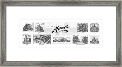 Muncie Indiana A Framed Print by Thomas Keesling