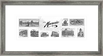 Muncie Indiana B Framed Print