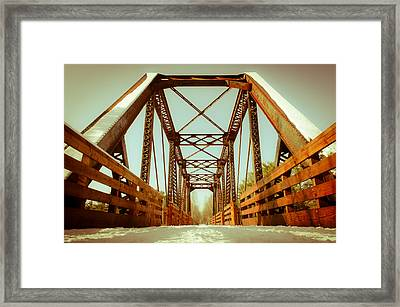 Framed Print featuring the photograph Munger Trail Crossing by Mark David Zahn Photography