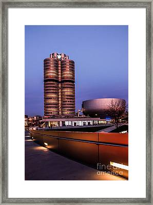 munich - BMW office - vintage Framed Print by Hannes Cmarits