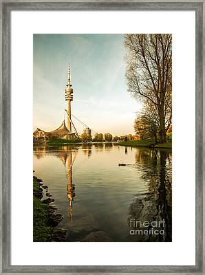 Munich - Olympiapark - Vintage Framed Print by Hannes Cmarits