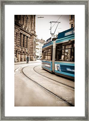 Munich City Traffic Framed Print