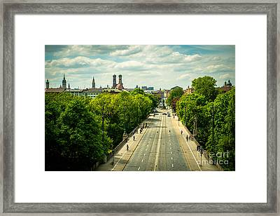 Munich - Maximiliansbruecke Framed Print by Hannes Cmarits