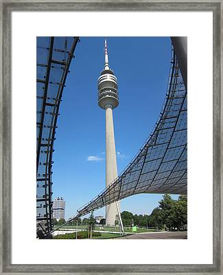 Framed Print featuring the photograph Munich Olympic Tower by Pema Hou