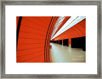 Munich Subway II Framed Print by Hannes Cmarits