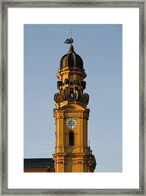 Munich Theatine Church Of St. Cajetan - Theatinerkirche St Kajetan Framed Print by Christine Till