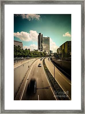 Munich Traffic Framed Print by Hannes Cmarits