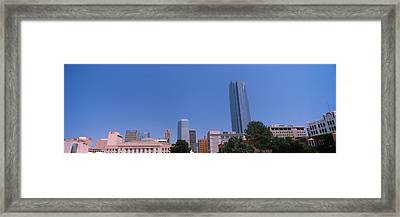 Municipal Building With Devon Tower Framed Print by Panoramic Images