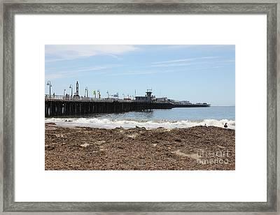 Municipal Wharf At The Santa Cruz Beach Boardwalk California 5d23769 Framed Print by Wingsdomain Art and Photography