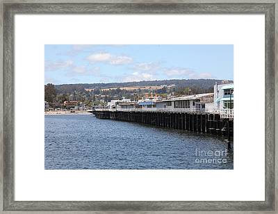 Municipal Wharf At The Santa Cruz Beach Boardwalk California 5d23815 Framed Print by Wingsdomain Art and Photography