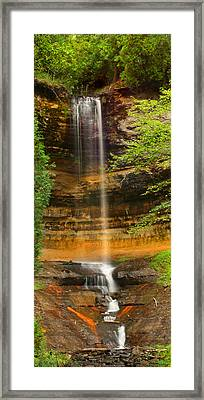 Munising Falls Framed Print by Brook Burling