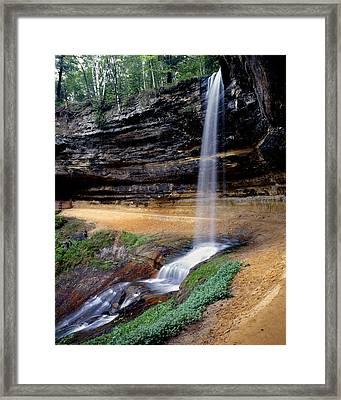 Munising Falls Framed Print by Tim Hawkins