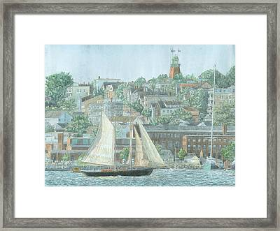 Munjoy Hill Framed Print