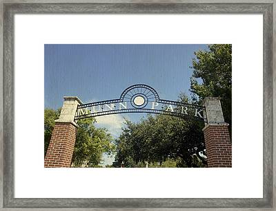 Munn Park Framed Print by Laurie Perry