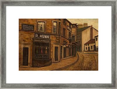 Munns Corner, 1890 Framed Print