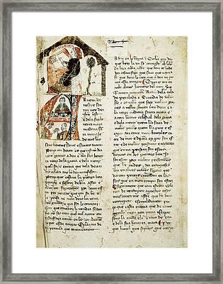 Muntaner, Ramón 1265-1336. Catalan Framed Print by Everett