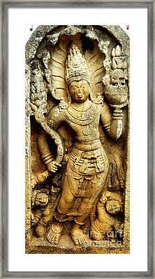 Muragala - Anuradhapura - Engravings 1 Framed Print by Surendra Silva
