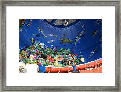 mural Decks  Framed Print by Carey Chen