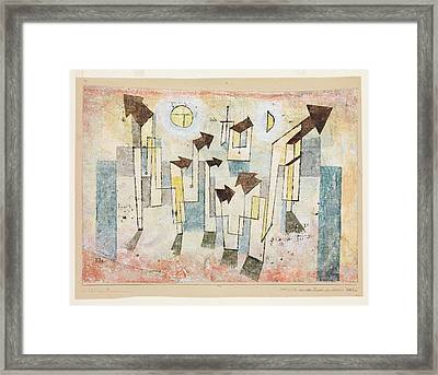 Mural From The Temple Of Longing Thither Framed Print