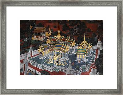 Mural - Grand Palace In Bangkok Thailand - 01131 Framed Print by DC Photographer