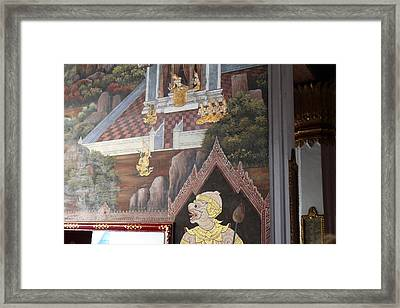 Mural - Grand Palace In Bangkok Thailand - 01133 Framed Print by DC Photographer