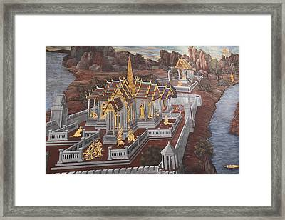 Mural - Grand Palace In Bangkok Thailand - 01135 Framed Print