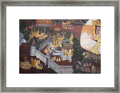Mural - Grand Palace In Bangkok Thailand - 01139 Framed Print by DC Photographer
