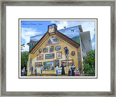 Mural In Beaupre Quebec Framed Print by Lingfai Leung