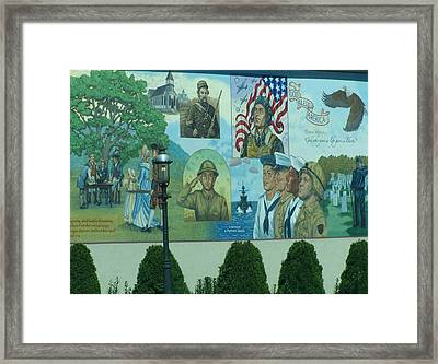 Mural In Memory Of Framed Print