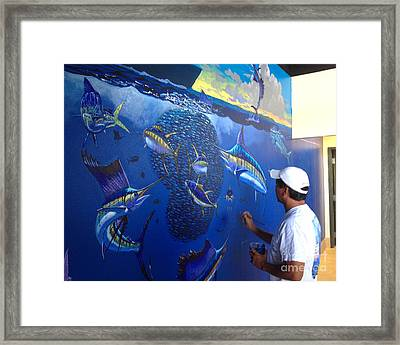 Mural In Stuart Framed Print by Carey Chen